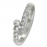 SilberDream Ring Kugeln Zirkonia weiß Gr.58 aus 925er Silber SDR409W58