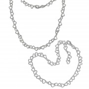 SilberDream Schmuckset Herz Fußkette & Halskette 925 Sterling Silber SDS2204F