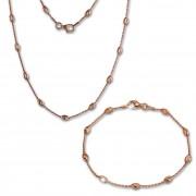 SilberDream Schmuckset Glamour Rose vergoldet Kette & Armband 925 Silber SDS238E