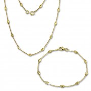 SilberDream Schmuckset Glamour vergoldet Kette & Armband 925 Silber SDS238Y
