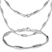 SilberDream Schmuck Set Collier & Armband Design 925 Silber SDS404