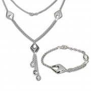 SilberDream Schmuck Set Drop Collier & Armband 925 Silber SDS413