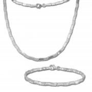 SilberDream Schmuck Set Design Collier & Armband Damen 925 Silber SDS427
