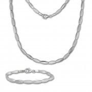 SilberDream Schmuck Set Fantasie Collier & Armband Damen 925 Silber SDS441J