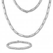 SilberDream Schmuck Set Zirkonia weiß Collier & Armband Damen 925 Silber SDS447W