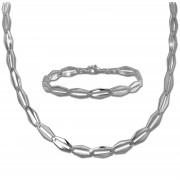 SilberDream Schmuck Set Raute Collier & Armband Damen 925 Silber SDS459J
