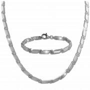 SilberDream Schmuck Set Fantasie Zirkonia Collier & Armband Damen 925er SDS464W