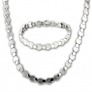 SilberDream Schmuck Set Circles Collier & Armband Damen 925 Silber SDS474J