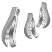 SilberDream Schmuck Set Anhänger und Ohrringe Beauty Zirkonia 925er SDS4916W