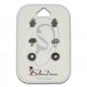 SilberDream Ohrstecker 3er Set Talisman 925 Silber Ohrring SDS805