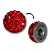 Glitzerkugel rot für Sterlinx London Shamballa Armband SHB00R