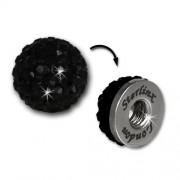 Glitzerkugel schwarz für Sterlinx London Shamballa Armband SHB00S