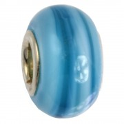 IMPPAC Glas Bead 925 Spacer blau European Beads SMB0106
