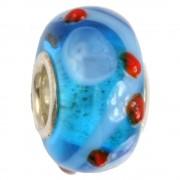 IMPPAC Glas 925 Spacer Gyro blau European Beads SMB0176
