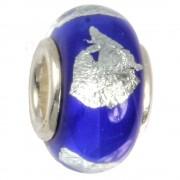 IMPPAC Glas Bead 925 Spacer marine European Beads SMB8021