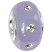 IMPPAC Glas Bead 925 Zirkonia lila European Beads SMB8081