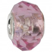 IMPPAC Glas 925 Bead Spacer Rosa European Beads SMB8084