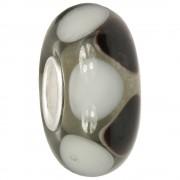 IMPPAC Glas Bead Black&White 925 Silber European Beads SMB8106