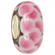 IMPPAC Glas Bead Ziegel rosa 925 Sterling Silber European Beads SMB8112