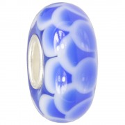 IMPPAC Glas Bead Ziegel blau 925 Sterling Silber European Beads SMB8113