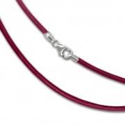 SilberDream Leder Kette 45cm pink 2mm für Charms SML7445