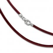 SilberDream Leder Kette 50cm rot 2mm für Charms SML7650