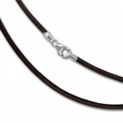 SilberDream Leder Armband 19cm braun 2mm für Charms SML7819