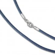 IMPPAC Textilarmband Silber blau-grau für European Beads SML8621