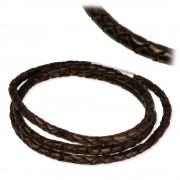 IMPPAC Leder Armband geflochten braun dreifach SMLA2357