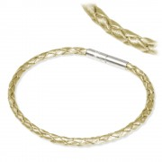 IMPPAC Leder Armband geflochten perlmutt einfach SMLA4120