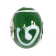 IMPPAC 925 Glas Bead grün Kringel European Beads SMQZ06