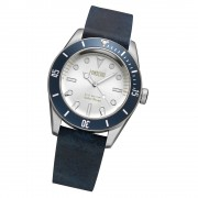 Fonderia Herren-Armbanduhr P-6A002USB Quarz Leder-Armband schwarz UAP6A002USB