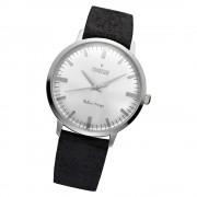 Fonderia Herren-Armbanduhr P-6A003US3 Quarz Leder-Armband schwarz UAP6A003US3