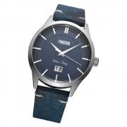 Fonderia Herren-Armbanduhr P-6A010UB1 Quarz Leder-Armband blau UAP6A010UB1
