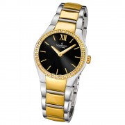 Candino Damen-Armbanduhr Timeless analog Quarz Edelstahl Gelbgold PVD UC4538/3