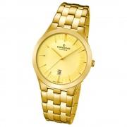 Candino Herren-Armbanduhr Timeless analog Quarz Edelstahl Gelbgold PVD UC4541/2