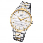 Candino Herren Armbanduhr Classic C4639/1 Edelstahl Quarz silber gold UC4639/1