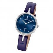 Candino Damen Armband-Uhr Lady Elegance C4648/2 Quarzuhr Leder blau UC4648/2
