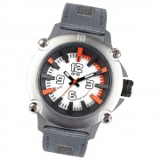 Ene Watch Modell 110 steel/orange, 51mm, Nylon-Armband UE72401