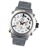 Ene Watch Modell 110 steel/grau, 51mm, Nylon-Armband UE72418