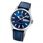Festina Herren Armbanduhr Klassik F20358/3 Quarz Leder blau UF20358/3