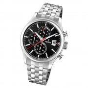 Festina Herren Armbanduhr Time Chronograph F20374/3 Quarz Stahl silber UF20374/3