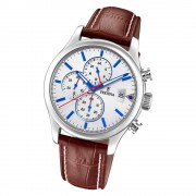 Festina Herren Armbanduhr Time Chronograph F20375/1 Quarz Leder weiß UF20375/1