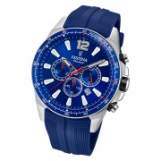 Festina Herren Armbanduhr The Originals F20376/1 Quarz PU blau UF20376/1