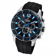 Festina Herren Armbanduhr The Originals F20376/2 Quarz PU schwarz UF20376/2
