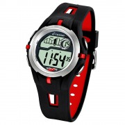 CALYPSO Herren-Armbanduhr Sport Chronograph Quarz-Uhr PU schwarz rot UK5511/4