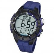 CALYPSO Herren-Armbanduhr Sport Chronograph Quarz-Uhr PU blau UK5607/2