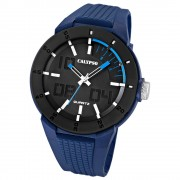 Calypso Herrenuhr PVD schwarz-blau Analog Uhren Kollektion UK5629/3