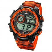 Calypso Herrenuhr Digital for Man K5723/5 Quarzuhr schwarz orange UK5723/5