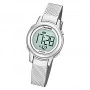 Calypso Kinder Armbanduhr Digital Crush K5736/1 Quarz-Uhr PU silber UK5736/1